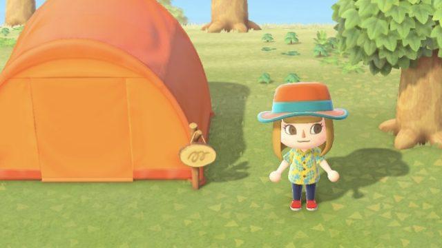 あつまれどうぶつの森のテント