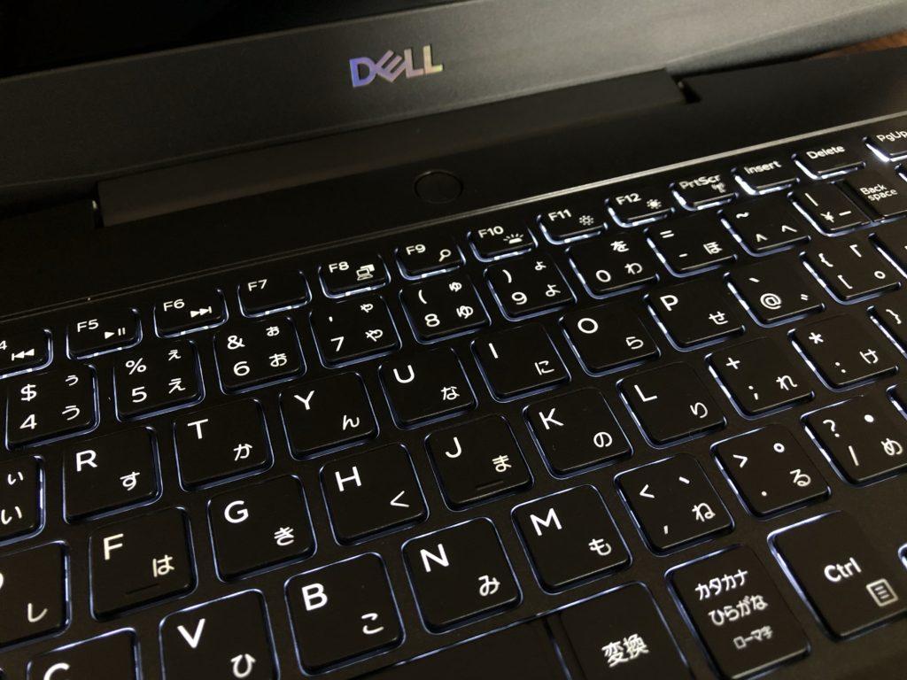 DELL G5 15SE(5505)のキーボード・点灯